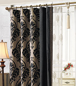 Significantly Curtains paper) Juniper (Black)