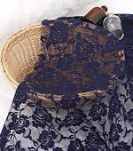 Dramatically - advanced ratsel rayon mesh) Rose Flower 4 kinds (Navy)