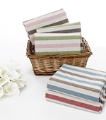 Linen dyed) to 5 kinds of color stripe
