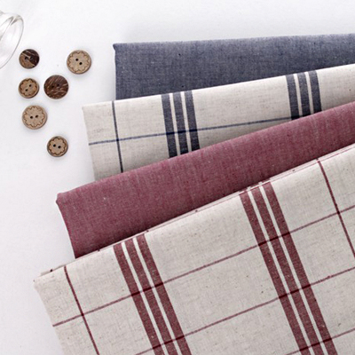 Linen dyed), linen double check four kinds of simple
