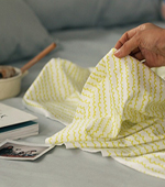 Significantly - the finest microfiber DTP), drawing waves (Lime Yellow) [065]