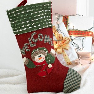 - 20% discount 1Piece] finished) Christmas socks bag (Snowman)