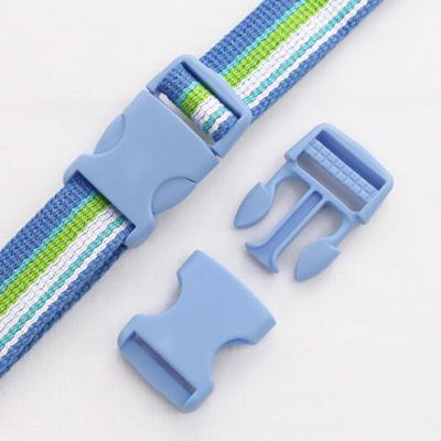 Pop color plastic buckle ticking 25mm (Sky Blue)