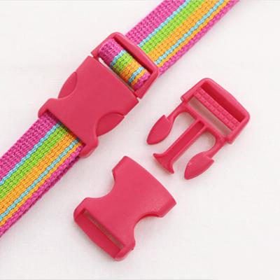 Pop color plastic buckle ticking 25mm (Jin Pink)