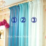 Chiffon) blue tone (three)