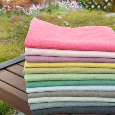 15 number of bio-washing) Natural Dyeing plain linen (12 species)