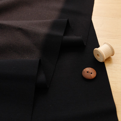 Significantly-rayon blend) black plain