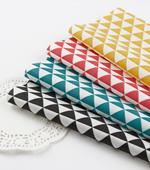 Cotton blend) 4 kinds of mini triangle