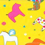 Cotton blend) Rainbow Unicorn (Yellow) [911]