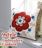 Finished products) embroidered cushion covers -ver.3 (9style)