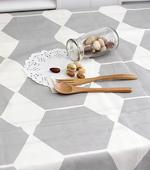 Significantly - rayon linen) Nordic Hexagon (Gray)