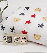 Handkerchief cut paper) Freaky Bear (Red Blue)