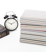 Linen dyed) Vintage Stripe five kinds of textile printing