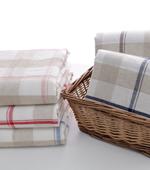 Washing of linen yarn-dyed) Natural Big 5 kinds of checks