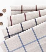 Linen dyed), linen simple checks four kinds