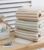 3 kinds of organic melan terry towel mild stripe