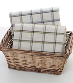 Linen dyed) vintage check two kinds