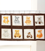 30 can be plain weave-cut paper) 1 kinds of teddy bears