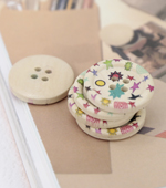 5 pieces) per charming wood button 25mm