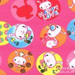 Cotton blend) Happy Love (Pink) [1264]