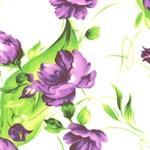 Cotton blend) Lady Flower (Purple) [1273]