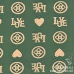 Cotton blend) Vintage Love (Green) [1277]