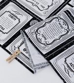 Cut paper) English lettering Cards