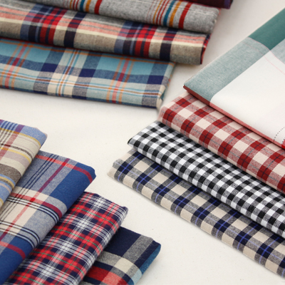 -20 Washing can greatly dyed) Autumn Vintage checks (12 species)