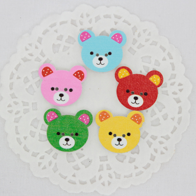 5ea- Wood Button) Color Winnie