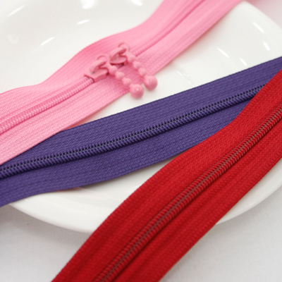 (2Hermp) 4 colored zipper No. (3 types) [pink]