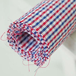 Ripple-dyed check (Red Blue)