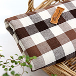 Sides 30) vintage ombre check (Brown)