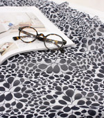 Lou significant demand chiffon -60) two kinds Flora (Black)