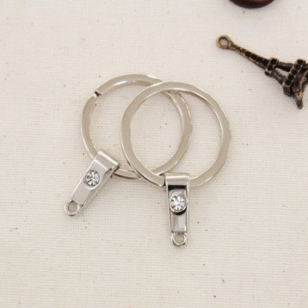 2ea) O-ring key-ring 25mm cubic