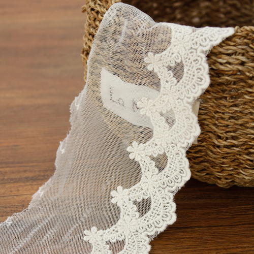 [LA030] mesh lace) Bridesmaid Flower (natural)