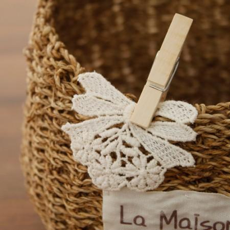 [2ea] motif cotton) ribbon flower