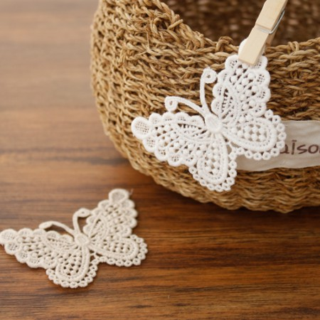 [2ea] cotton motif) Butterfly (2 species)