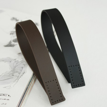 Bag strap 65cm) Simple leather handles -L (2 species)