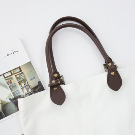 Bag strap 50cm) high-grade leather shoulder handle -B (2 species)