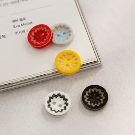 5ea) button colorful teeth (5 species)