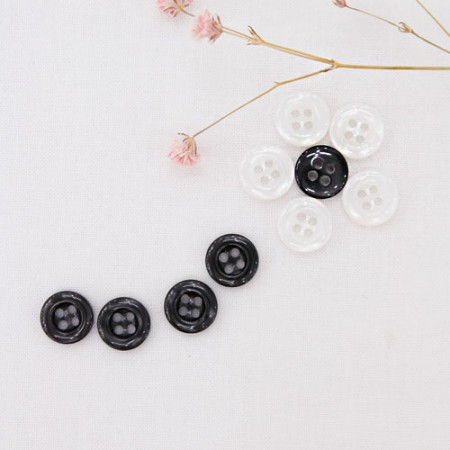 10ea) 10mm scale, simple buttons (2 species)