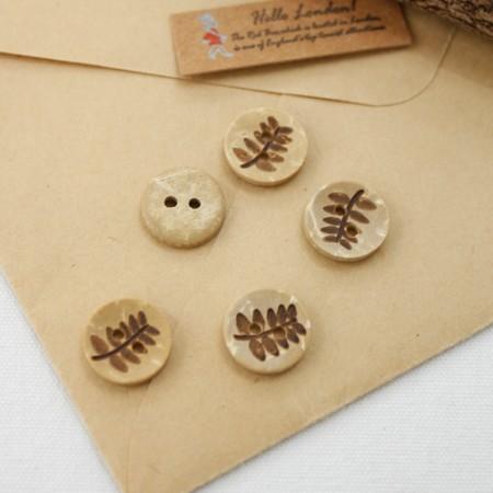 Wood 5ea- button) palm leaf button