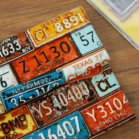 Significantly - dispense canvas) Vintage License Plate