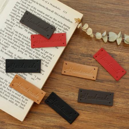 2ea- leather label) Written handmade -971 (4 species)