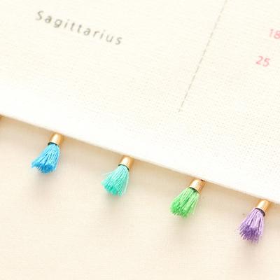 5ea) Cool color mini tassels Set_13mm