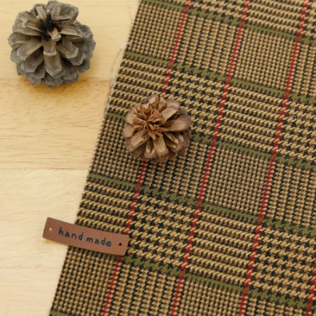 20 can be woven) Dark brown checked