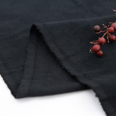 Significantly - brushed cotton fabrics), plain black