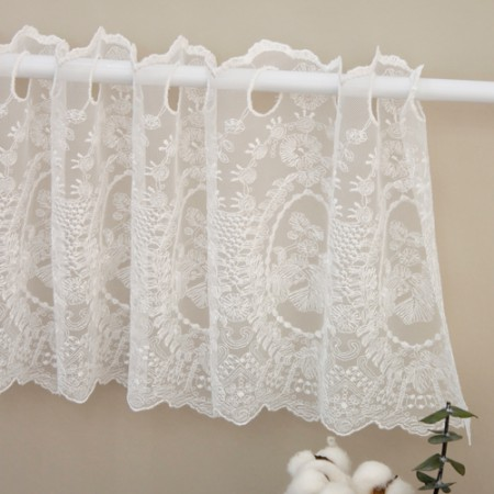 Bong Baran mesh mesh lace morning glory mirror small white child