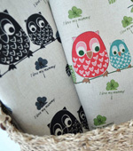 Significantly -Linen) owl family (Black)
