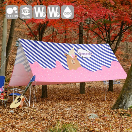 """Emotional camping fabric) tongpan wide-cut paper - Bear in love <div style=""""display:none;""""> Fabric / mall / Fabric / Fabric Store / camping cloth / tablecloth / Waterproof </div>"""